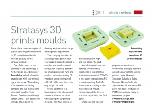 Stratesys 3D prints moulds PRIM
